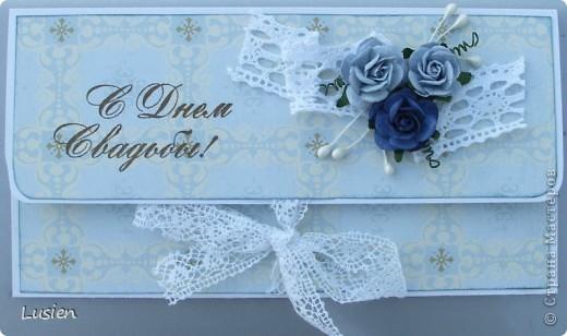 Свадебные конверты и открытка фото 3