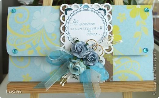 Свадебные конверты и открытка фото 4