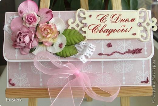 Свадебные конверты и открытка фото 5