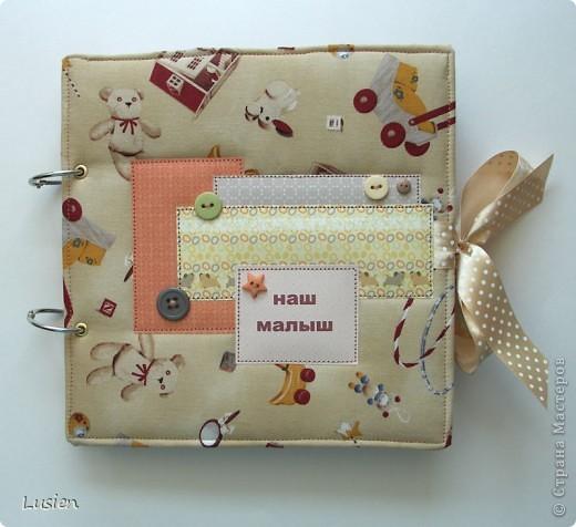 Американский хлопок, переплетный картон, прослойка синтепона и пуговицы  фото 1