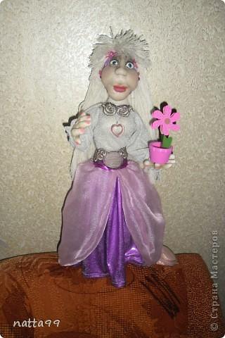 дама с цветком