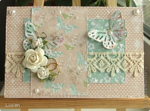 Свадебные конверты и открытка фото 6