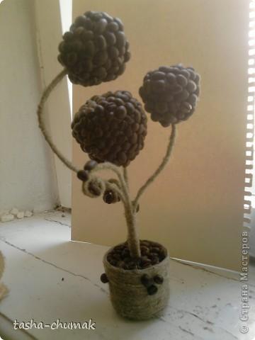 Просто вазочка.... Банка,капроновый чулок, пластмас. цветочки.............. фото 3