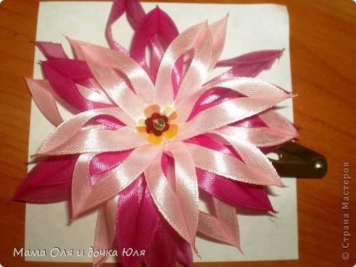 Цветочек из тонких ленты