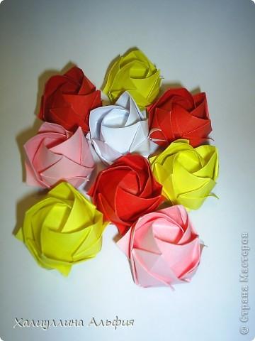 Поделка изделие Оригами Розы