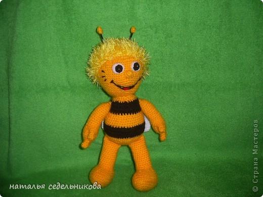 Игрушка Вязание крючком пчелка