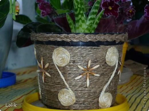 Кашпо для цветов из шпагата своими руками