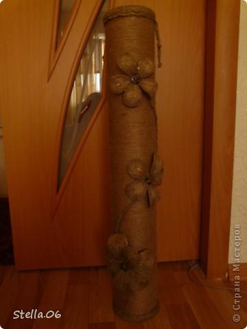 Вот такую вазу сделала брату на новоселье . Высота - 78см фото 13