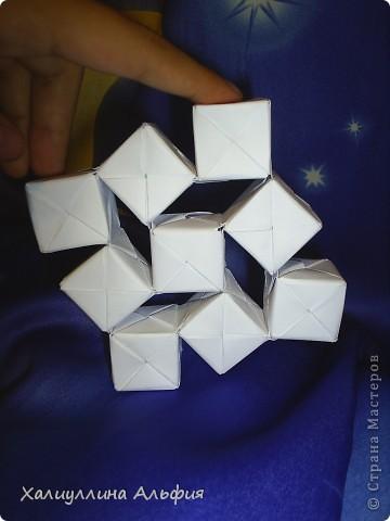 Вот такие кубики я научилась собирать из модулей Сонобе. Вот ссылка на подробный видеоурок для тех, кто решится тоже сделать эту модель: http://www.youtube.com/watch?feature=player_embedded&v=7A_4e-_J714 фото 6