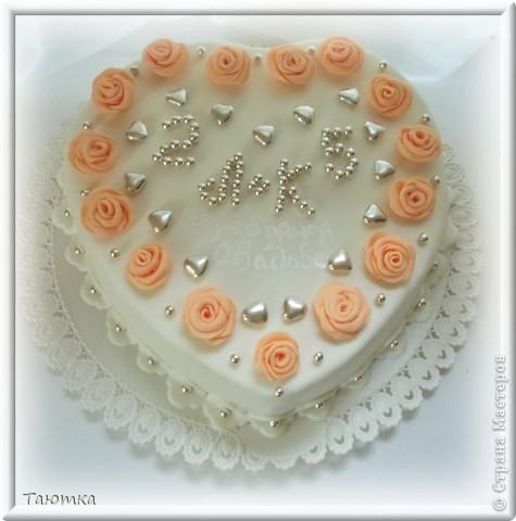 Свадьба лепка торт серебряная свадьба