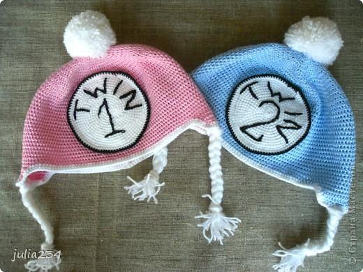 шапочки для двойняшек фото 5