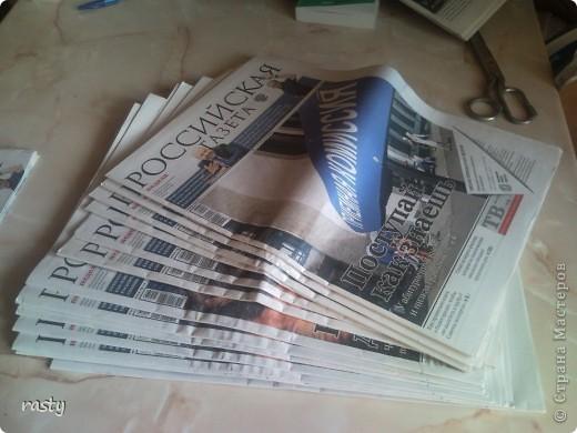 Материалы и инструменты Плетение Корзинка  подготовка к плетению Бумага газетная Трубочки бумажные