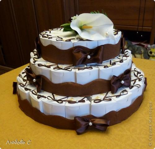 торт из бонбоньерок Бумага