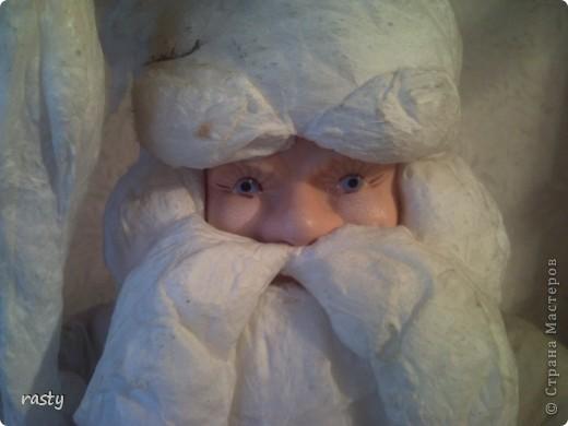 Реставрация ватного Деда Мороза.