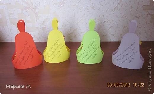 Вот такие школьные звоночки мы с дочкой сделали к 1 сентября. За идею и шаблон спасибо o-olnika http://stranamasterov.ru/node/97455?c=favorite и ОксаНе Загребиной http://stranamasterov.ru/node/247697?c=favorite! фото 4