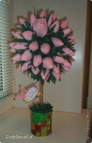 Вот и у меня сотворилось дерево роз фото 1