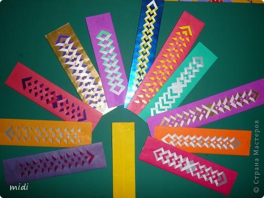 Плетёные закладки для книг из бумаги своим руками