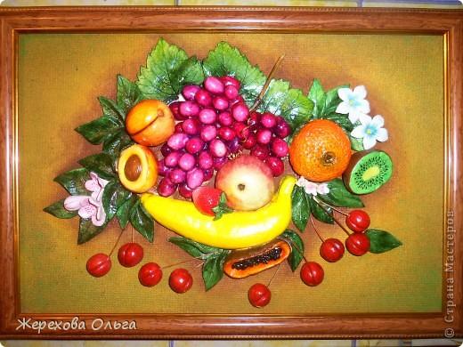 Ну вот обещанный МК.. правда  не совсем подробный.. Если вы уже умеете лепить яблоко или банан,то справитесь без проблем. Желаю всем удачи!!! фото 1