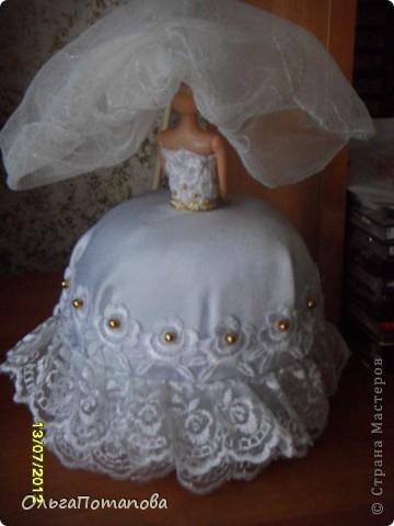 Куклы Поделка изделие День рождения Свадьба Опять барышни шкатулки Бисер Бусинки Кружево Ленты фото 6.