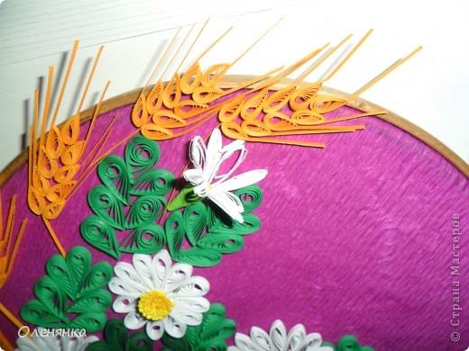 Картина панно рисунок Квиллинг ромашки Бумага фото 2.