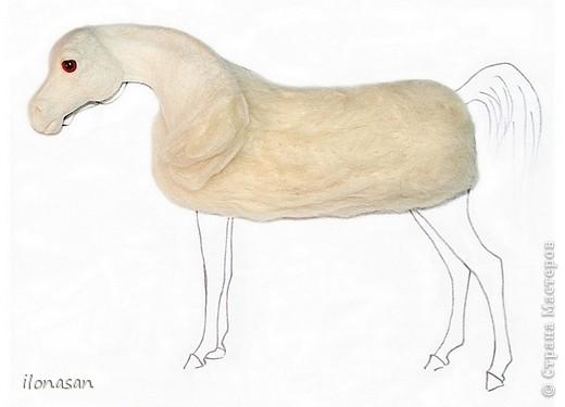Лошадь из шерсти Сложность работы: выше средней Время работы: 15-20 дней Здравствуйте, Дорогой любитель лошадей и творчества! Предлагаю сделать своими руками скульптурную лошадь из шерсти. Общая высота Златы 23 см, высота в холке 17 см, длина 25 см. фото 24