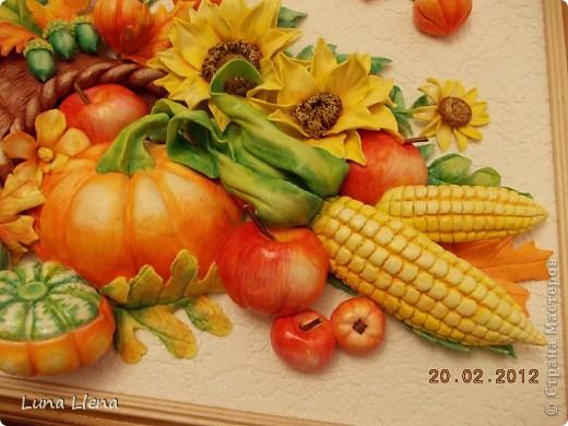 Картина панно рисунок Лепка Рог изобилия и панно для кухни Тесто соленое фото 2