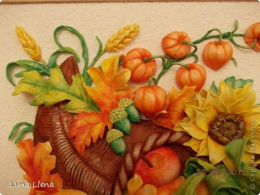 Картина панно рисунок Лепка Рог изобилия и панно для кухни Тесто соленое фото 3
