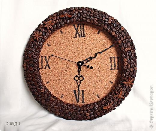 Часы из кофейных зерен своими руками мастер класс