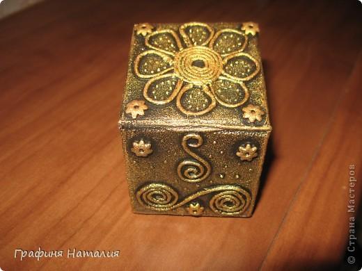 Вот моя первая коробочка, насмотрелась в СТРАНЕ МАСТЕРОВ шедевров и тоже загорелось попробовать! фото 8