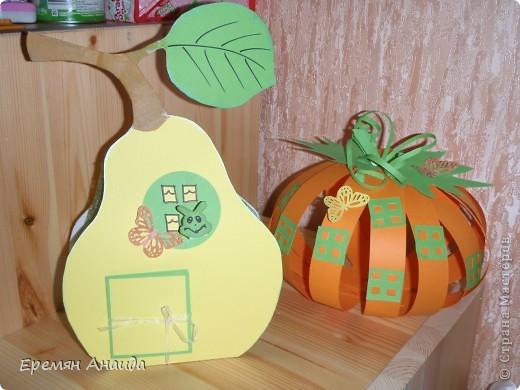 Объемные овощи и фрукты из цветной бумаги