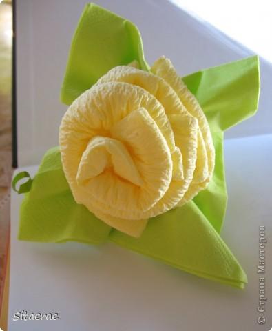 Мастер-класс Роза из салфеток как украшение стола Салфетки фото 1