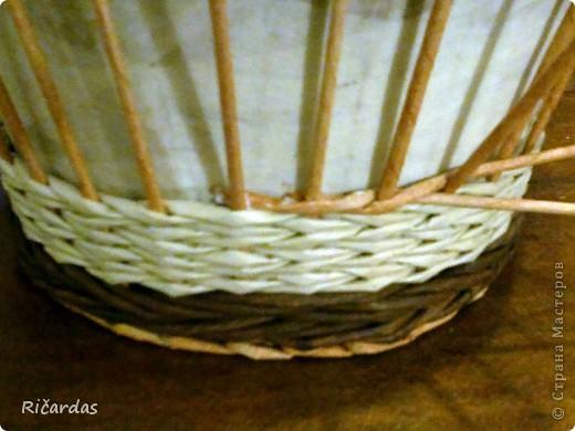 Мастер-класс Поделка изделие Плетение Послойное плетение Бумага газетная фото 8