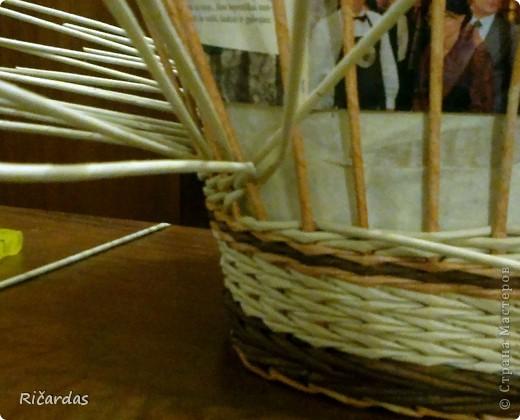 Мастер-класс Поделка изделие Плетение Послойное плетение Бумага газетная фото 20