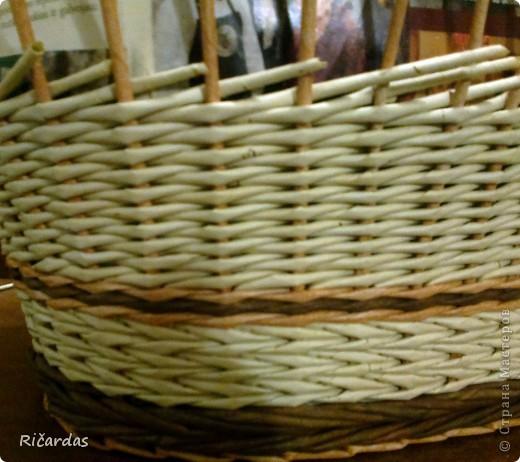 Мастер-класс Поделка изделие Плетение Послойное плетение Бумага газетная фото 25