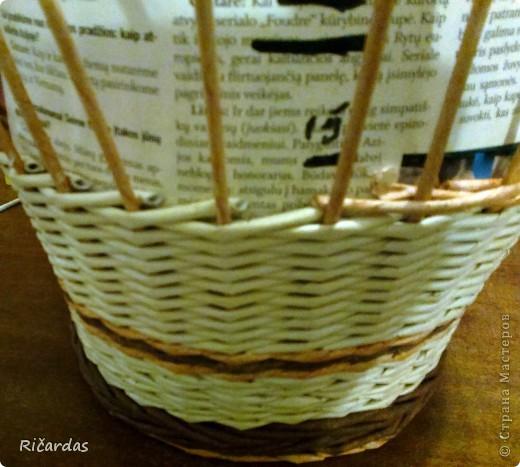 Мастер-класс Поделка изделие Плетение Послойное плетение Бумага газетная фото 26