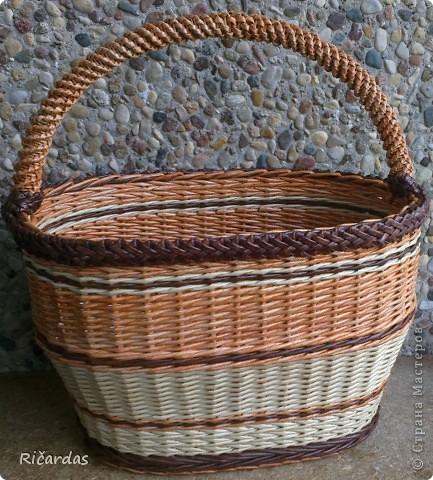 Мастер-класс Поделка изделие Плетение Послойное плетение Бумага газетная фото 38