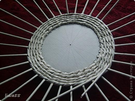 Мастер-класс Поделка изделие Начало учебного года Плетение кашпо или ваза Бумага газетная Трубочки бумажные фото 13