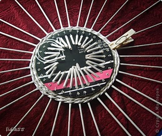Мастер-класс Поделка изделие Начало учебного года Плетение кашпо или ваза Бумага газетная Трубочки бумажные фото 15