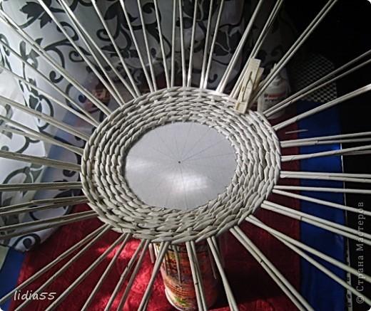 Мастер-класс Поделка изделие Начало учебного года Плетение кашпо или ваза Бумага газетная Трубочки бумажные фото 16