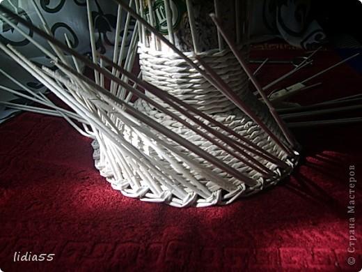 Мастер-класс Поделка изделие Начало учебного года Плетение кашпо или ваза Бумага газетная Трубочки бумажные фото 18