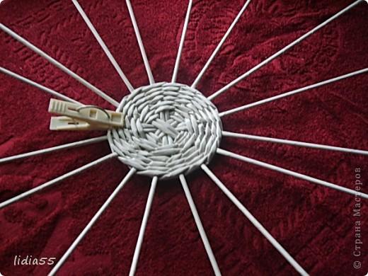 Мастер-класс Поделка изделие Начало учебного года Плетение кашпо или ваза Бумага газетная Трубочки бумажные фото 21