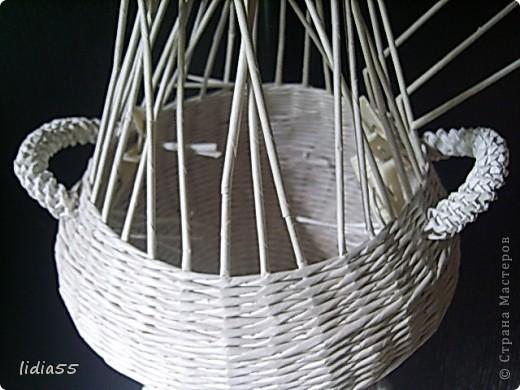 Мастер-класс Поделка изделие Начало учебного года Плетение кашпо или ваза Бумага газетная Трубочки бумажные фото 26