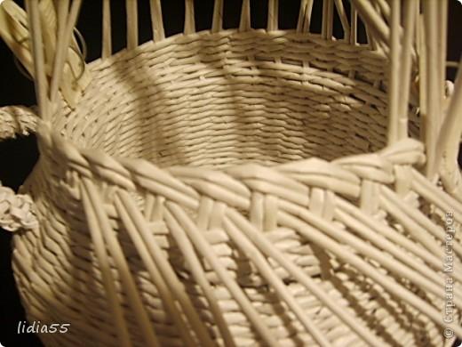 Мастер-класс Поделка изделие Начало учебного года Плетение кашпо или ваза Бумага газетная Трубочки бумажные фото 32