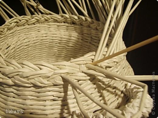 Мастер-класс Поделка изделие Начало учебного года Плетение кашпо или ваза Бумага газетная Трубочки бумажные фото 35