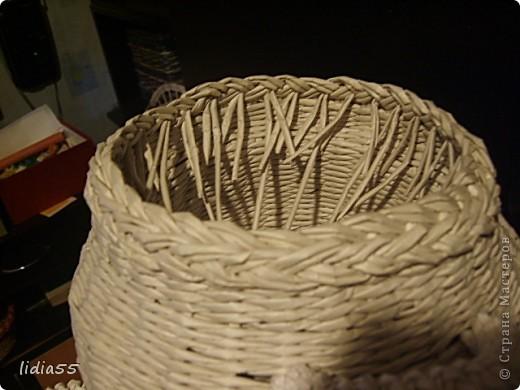 Мастер-класс Поделка изделие Начало учебного года Плетение кашпо или ваза Бумага газетная Трубочки бумажные фото 36