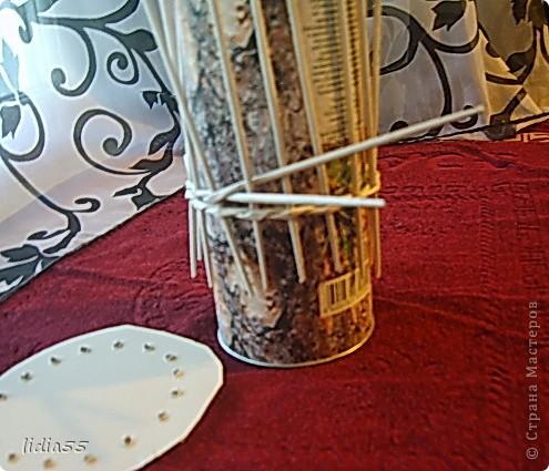 Мастер-класс Поделка изделие Начало учебного года Плетение кашпо или ваза Бумага газетная Трубочки бумажные фото 5