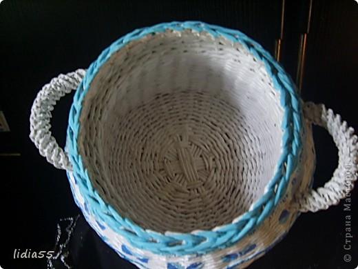 Мастер-класс Поделка изделие Начало учебного года Плетение кашпо или ваза Бумага газетная Трубочки бумажные фото 37