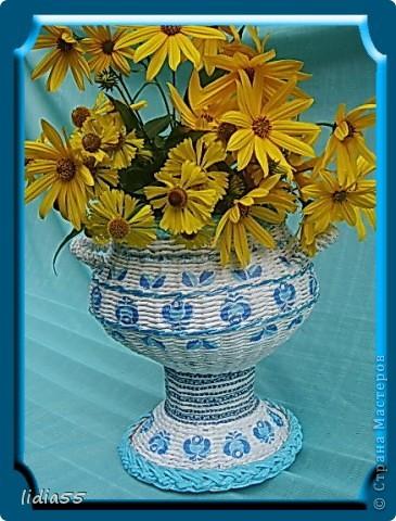 Мастер-класс Поделка изделие Начало учебного года Плетение кашпо или ваза Бумага газетная Трубочки бумажные фото 1