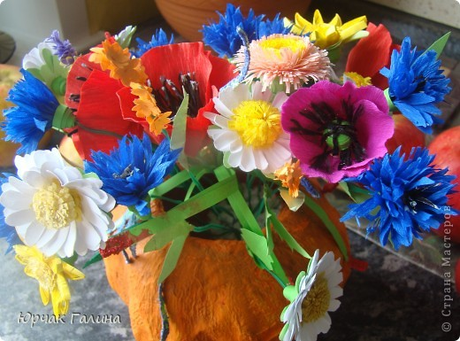 букет полевых цветов картинки: