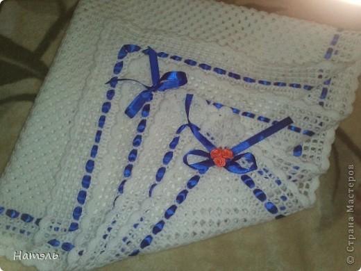 День рождения Вязание крючком Плед для новорожденного Ленты Нитки фото 4
